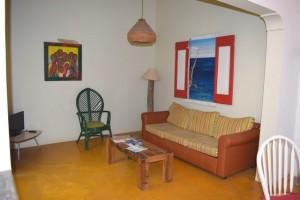 Duikvakantie Bonaire Tropicana appartments vakantieduiker woonkamer