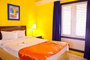 Duikvakantie Curacao academy hotel vakantieduiker slaapkamer