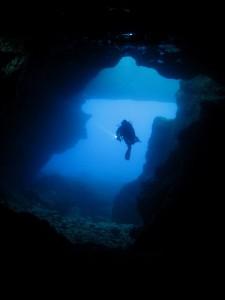 Duikvakantie Gozo Malta grot vakantieduiker