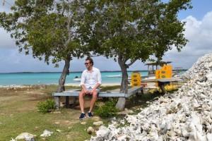 Duikvakantie bonaire vakantieduiker Ramon schelpen