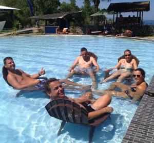duikvakantie Indonesie manado zwembad groep