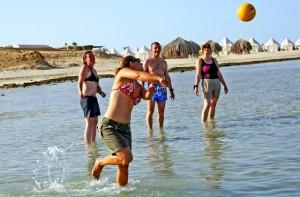volleybal Duikvakantie Marsa Shagra vakantieduiker