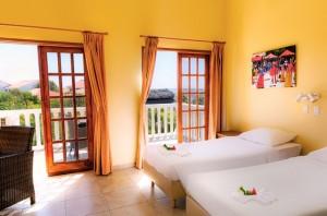 Duikvakantie Bonaire Buddy dive resort slaapkamer vakantieduiker